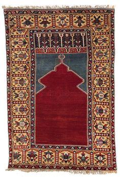From the Collection of the late Ambassador Burton Y. Berry. A Ladik prayer rug, Central Anatolia. 18th century. Approximately 160 x 112cm. $25,000-35,000