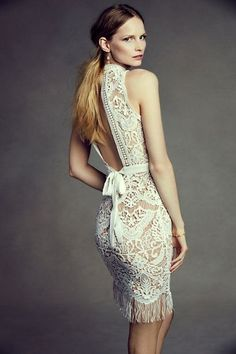 chic lwd for a city hall wedding   Bailey Dress from BHLDN