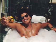 Bruno Mars with Champagne