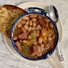 Pinto beans simmer all day in a slow cooker with cubes of Black Forest ham. A little bit of lard adds a flavorful richness to this bean stew. Slow Cooker Beans, Crock Pot Slow Cooker, Crock Pot Cooking, Slow Cooker Recipes, Crockpot Recipes, Cooking Recipes, Yummy Recipes, Most Popular Recipes, Frijoles Charros