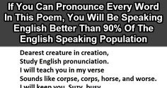 9 Out 10 People Can't Pronounce This Whole Poem. You Gotta Try It.