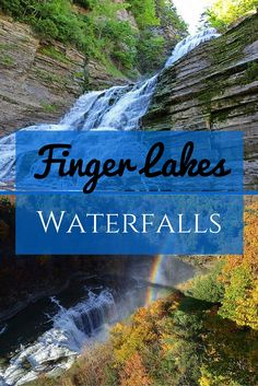 The Finger Lakes are 11 glacial lakes, all of which are shaped like fingers, located in the central region of New York state. The region is perhaps best known for its impressive gorges, which were shaped by water and ice over some 10,000 years. As the rain water flowed down these steep cliffs, it formed hundreds of Finger Lakes waterfalls that you'll find dotted all around the area. Finger lakes NY | Finger Lakes New York | Finger lakes things to do | Finger Lakes fall - @greenglobaltrvl