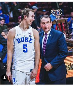 Luke Kennard and Coach K | I love the articles written by the team. This is one written by Luke.