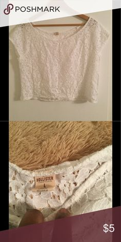 LACE TOP and SKIRT Size: L EUC. Both top and skirt in EXCELLENT USE CONDITION. Hollister Skirts Mini
