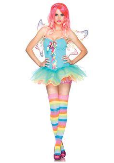 Sexy Rainbow Fairy costume #Halloween