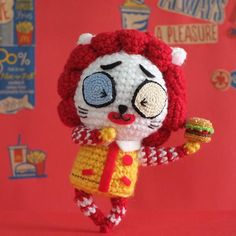 Uncle McMeowmeow ❤️ #unclemcdonalds #mcdonalds #マクドナルド #麥當勞叔叔 #麥當勞 #cat #貓 #neko #編みぐるみ #amigurumi #crochet #nekogurumia