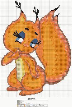 Squirrel x-stitch