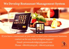 We Develop Restaurant Management System. For your System, contact us.  Email: powerandroidgrp@gmail.com Phone: +8801815264328, +8801674563939  #google #business #job #programming #code #studio #skill #android #ios #website #webdevelopment #iTunes #playstore #apps #top_software_developer #top_android_developer #best_it_company #Marketing #Business #Software #Apps #Mobile #Entrepreneur #Sales #Digital #Tools #top_software_company_in_bangladesh #restaurant_management_system Software Apps, Business Software, Android Developer, Web Development, Programming, Itunes, Ios, Entrepreneur, Management
