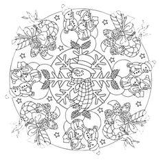 Mandala 601, Christmas Designs 3D Coloring Book, Dover Publications