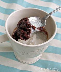 Best Mug Brownie recipe that I've ever tried. Nannal approved.