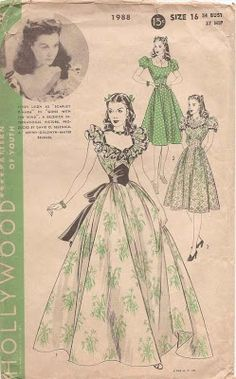Vintage Starlet: Current Obsession: Gone with the Wind and the Twelve Oaks Barbeque Dress Hollywood: 1988