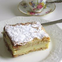 """Polish Creme Pastry - dubbed """"Polish Papal Cake"""" since it's reputed to have been Pope John Paul II's favorite when he was growing up in Poland."""