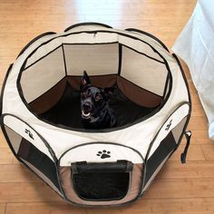 Large Pet Carrier Portable Dog Cat Soft Folding Lightweight Playpen Crate Coffee | Pet Supplies, Dog Supplies, Fences & Exercise Pens | eBay!