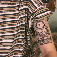 This gorgeous tarot ink. Related Inspirational Cute Tattoo Ideas For Girls 2019 - Page 41 of 44 - most beautiful tattoos covering her hipsPolynesian Drawings, Women's Strength Tattoos, Tribal Tattoo Designs Shoulder, M. Tattoo Dotwork, 16 Tattoo, Tiki Tattoo, Get A Tattoo, Tattoo Neck, Tattoo Sleeves, Tattoo Music, Tattoo Bird, Sleeve Tattoos