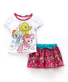 Take a look at this White My Little Pony Puff-Sleeve Tee & Pink Tutu Skirt - Toddler on zulily today!