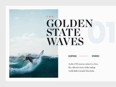 The Golden State Waves by Vedad Siljak on Dribbble Web Flat Design, Design Ios, Minimal Web Design, Wave Design, Email Design, Luxury Graphic Design, Graphic Design Brochure, Magazine Layout Design, Book Design Layout