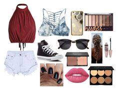 """""""Casual day :))"""" by claregenung02 on Polyvore featuring RVCA, One Teaspoon, Converse, Skinnydip, Maybelline, blacklUp and Lime Crime"""