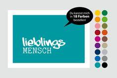 "Print ""lieblingsMENSCH"" 20 x 30 cm in 18 Farben von Frau B. - PapeterieSHOP auf DaWanda.com"