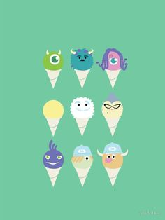 'We all scream for ice cre- snow cones!' iPhone Case by amidotlee Snow Cones, Sell Your Art, Scream, Iphone Case Covers, Cover Design, Pixar, Apps, Ice, Wallpaper