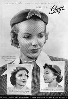 Hats by Gage, 1953