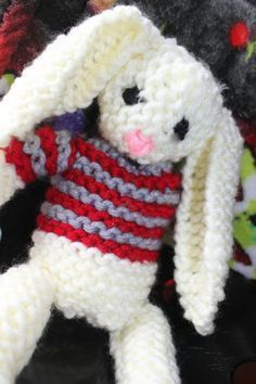 Loom knitted bunny toy by Andre G.: