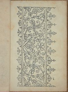 Search the Collection Blackwork Embroidery, Hand Work Embroidery, Embroidery Motifs, Embroidery Fashion, Hand Embroidery Designs, Medieval Embroidery, Folk Art Flowers, Pattern Coloring Pages, Border Print