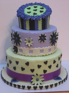 Purple and Green Wedding Cake....lmao jk jk