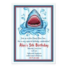 Shark Birthday Invitations 23rd Cakes Ideas Party