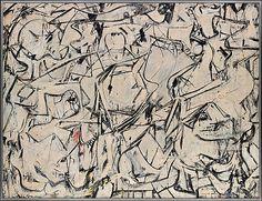 Attic  Willem de Kooning (American (born The Netherlands), Rotterdam 1904–1997 East Hampton, New York)  Date: 1949 Medium: Oil, enamel, and newspaper transfer on canvas