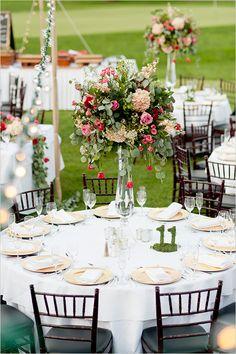 Elegant outdoor garden party wedding ideas. #gardenwedding