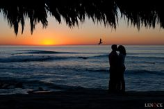 Wind an Sea sunset wedding photos...perfect in the winter bc the sunsets are incredible!