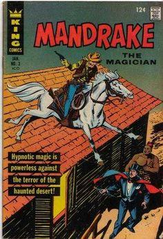 Mandrake The Magician #3 (Issue) Old Comic Books, Comic Book Covers, Comic Book Characters, Zumba, Indrajal Comics, Comics Vintage, Sunday Newspaper, Midtown Comics, Silver Age Comics