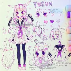 Happy weekend everyone~ I finally finished the ref sheet for my OC Yusun. I was thinking of colouring the little sketches on the side too but I am too busy today T_T one day I'll eventually finish all the refsheets...one day (´Д`) Also since it's been asked before - no one needs to ask me if they want to draw any of my OCs, but if they do it then I want to see the drawing too~ I am sorry but I did try to film this but I have a bad habit of drawing at some absurd hour when everyone is asleep…