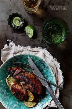 Slow Cooker Jerk Chicken via Bakers Royale