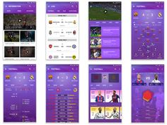 I recently made some application on the sports interface, and now picked some of the finishing, I hope you can like and support. App Ui Design, Layout Design, Web Design, Sports App, Platform, Football, Soccer, Design Web, Futbol