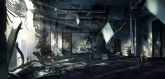 Crysis 2 - Environment Concept art by Viktor Jonsson