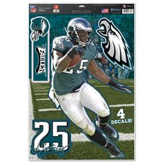 Philadelphia Eagles LeSean McCoy Decal 11x17 Multi Use