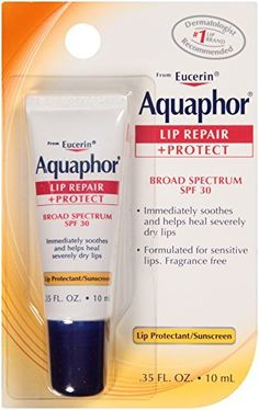 Aquaphor Lip Repair   Protect Lip Balm Sunscreen UVA/UVB SPF30 -- Check out this great product by click affiliate link Amazon.com