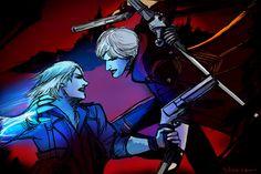 Nero vs Dante - Devil May Cry by Musiriam on DeviantArt