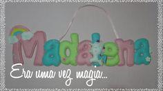 Felt Name Banner 8 letters Unicorn Baby's Room by mywonderfelt