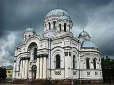 St. Michael the Archangel's Church or the Garrison Church is a Roman Catholic church in Kaunas, Lithuania. It was built between 1891 and 1895 in Neo-Byzantine style for the garrison of Kaunas Fortress.
