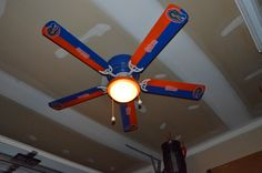 I bought the stickers and my husband best friend spray painted just a normal 5 blade fan, and turned it into a Florida Gator Fan for my husbands man cave. :) Looks professional huh?!!