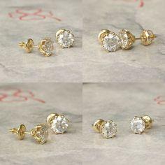 #jewelry #earrings #studearrings #diamondearrings #bridalearrings #weddingearrings #fineearrings #2caratsdiamonds #genuinediamonds #6prongsearrings #solitaireearrings #diamondstuds #bridesmaidearrings #14kyellowgold #birthstonediamond #pushbackstud Bridesmaid Earrings, Wedding Earrings, Wedding Jewelry, Solitaire Earrings, Diamond Earrings, Etsy Jewelry, Handmade Jewelry, Diamond Studs, Etsy Earrings