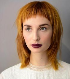 22 Most Universal Modern Shag Haircut Solutions – New Best Hairstyle - Popular Medium Hair Styles, Curly Hair Styles, Pageboy Haircut, Punk Haircut, Modern Shag Haircut, Short Bangs, Aesthetic Hair, Shag Hairstyles, Haircut And Color