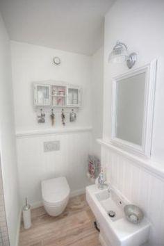 dekoideen f r das g ste wc im vintage und shabby chic look piccoli spazi il bagno pinterest. Black Bedroom Furniture Sets. Home Design Ideas