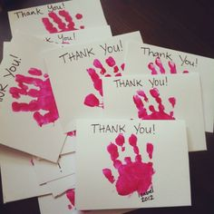 Easy Thank You notes (1st birthday edition)