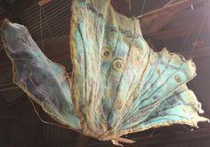 Butterfly. Sharon Mansfield. Copper, Silk, Wool.