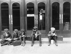 On the steps of the old Cincinnati Library circa 1910. I would love to know how these kids turned out and if their love of reading continued. This is something we no longer see -- kids actually enjoying reading whilst waiting to get in a library. Pinned from http://www.buzzfeed.com/briangalindo/15-gorgeous-photos-of-the-old-cincinnati-library