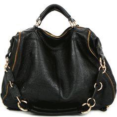 Women bag leather HandBag Shoulder tote hobo designer purse black brown lady