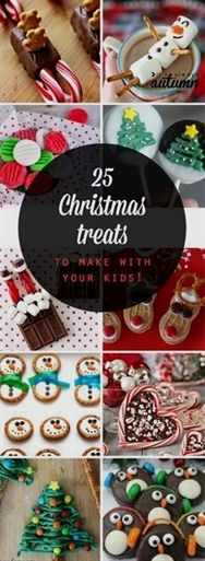 25 fun Christmas treats to make with your kids! Easy Christmas and holiday candy… 25 fun Christmas treats to make with your kids! Easy Christmas and holiday candy and dessert recipes. Christmas Treats To Make, Noel Christmas, Christmas Goodies, Simple Christmas, Christmas 2019, Christmas Parties, Christmas Candy Crafts, Christmas Cookies Kids, Diy Christmas Edible Gifts